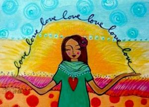 Andrea Gabriel Spiritual Life Coach Painting